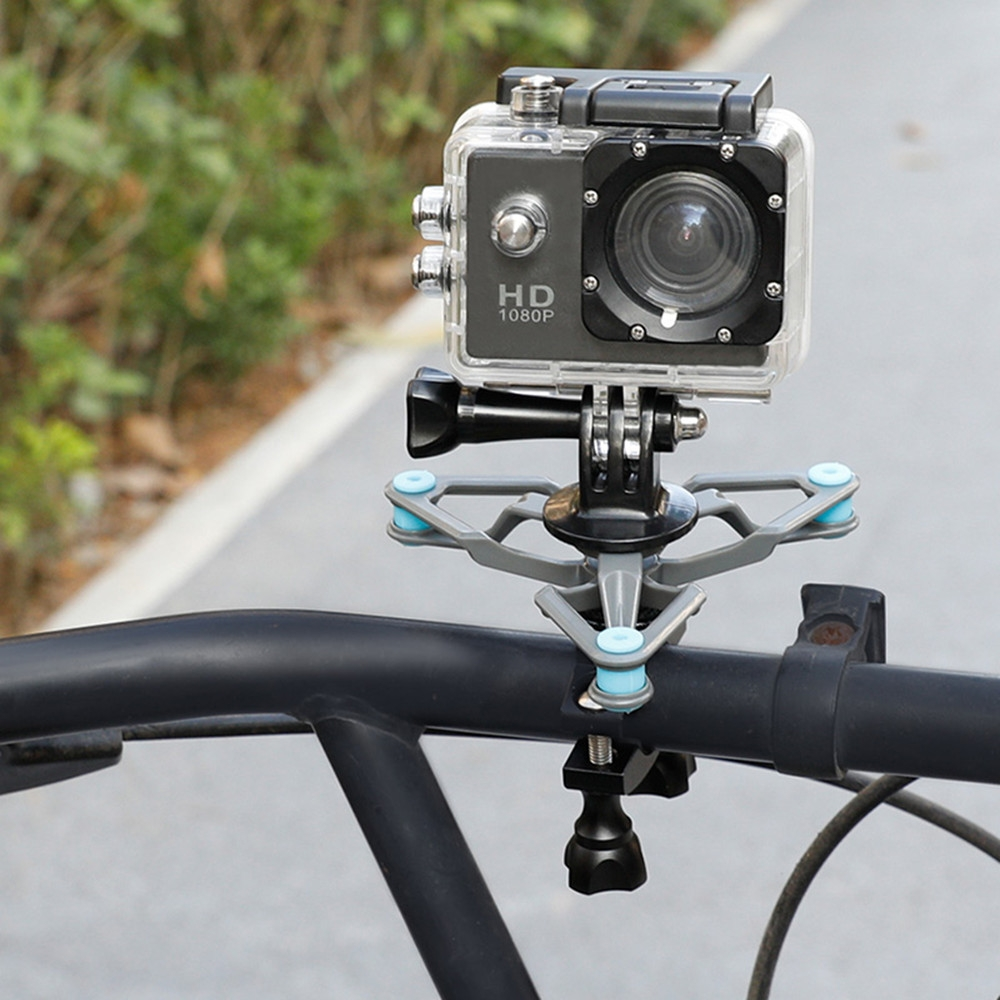 Bike Bicycle Bracket Damping Shock Absorber Mount Fixed Clip Tripod for OSMO Action Gopro Hero Camera Accessories