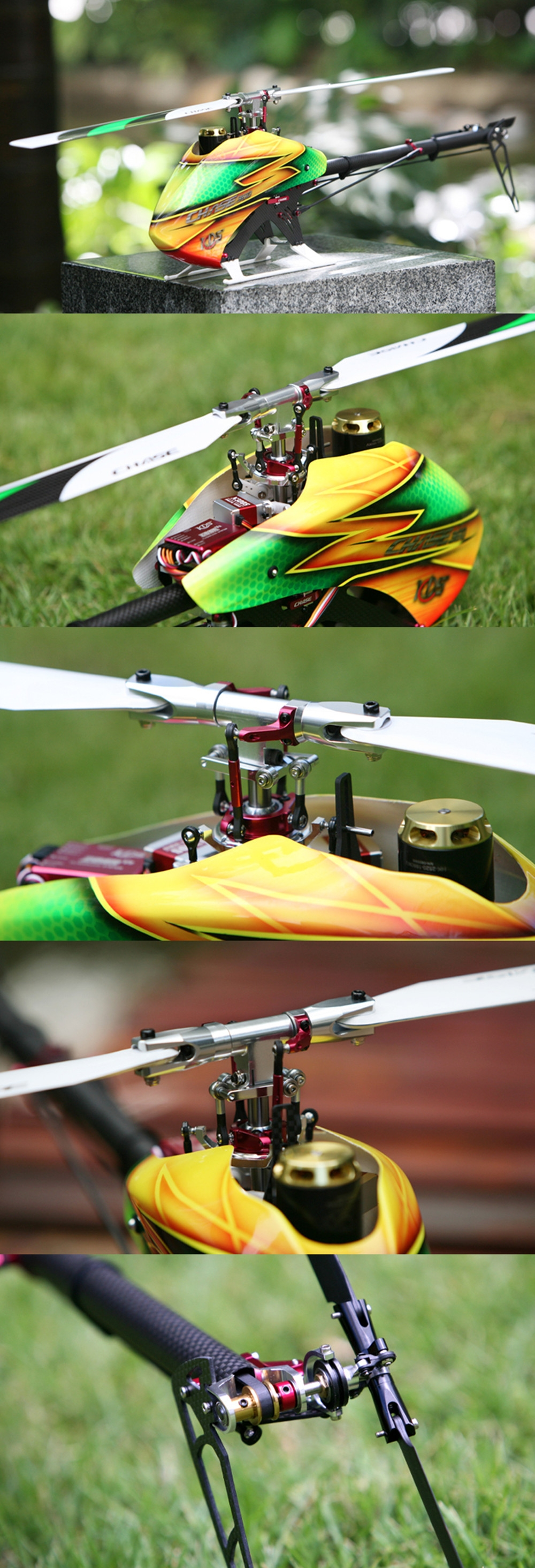 KDS Chase 360 V2 6CH 3D Flying Flybarless RC Helicopter Kit