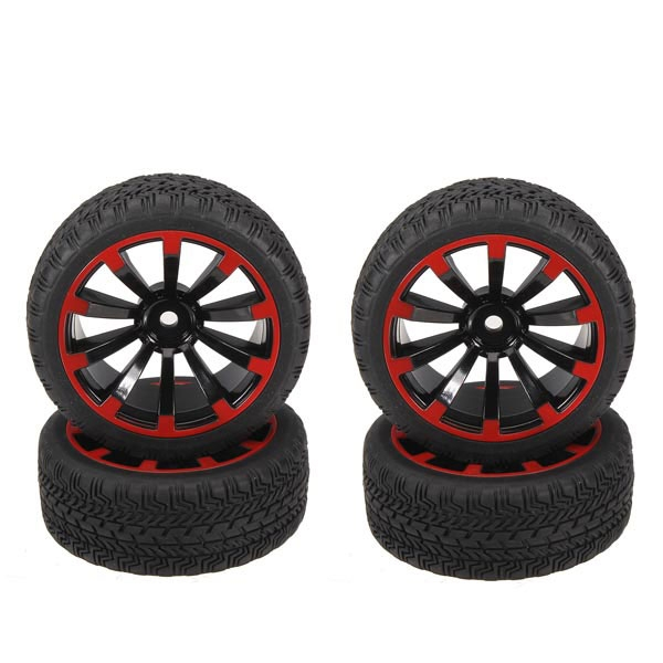 1/10 On-Road Rubber Tyre 4Pcs For HSP Tamiya Losi RC Car Tyre