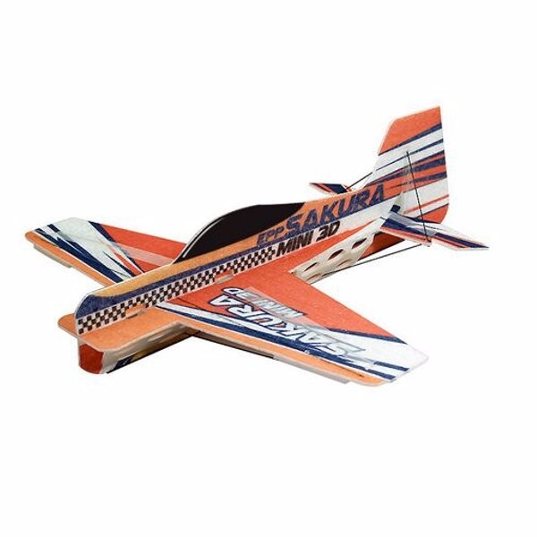SAKURA 417mm Wingspan 3D Aerobatic EPP Micro RC Airplane Orange KIT
