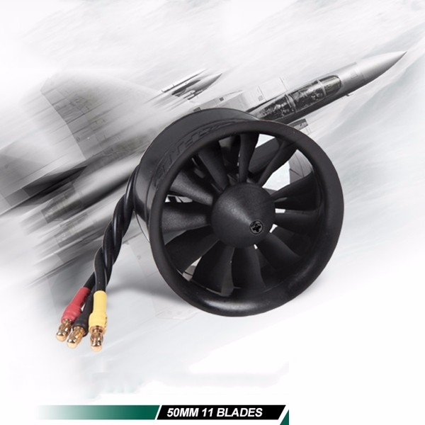 FMS 50mm 12 Blades Ducted Fan EDF With 2627 KV4500 KV5400 3S 4S Brushless Motor