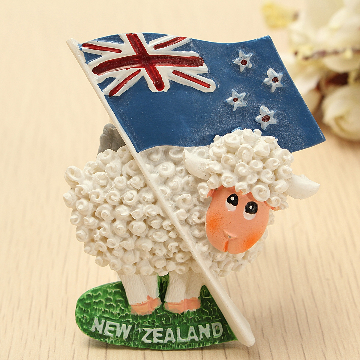 Cute Sheep & Flag 3D Resin Travel Fridge Magnet New Zealand Tourist Souvenir