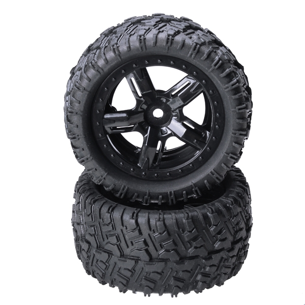 REMO 1/16 P6973 Rubber Tires Assembly For Desert Buggy Truck