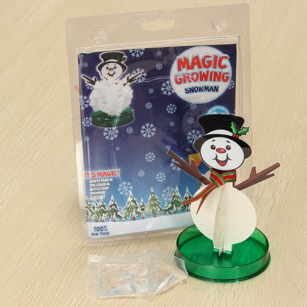 JA Magic Growing Snowman Blossom Paper Tree Blossom Paper Art Kids Educational Toy Decor