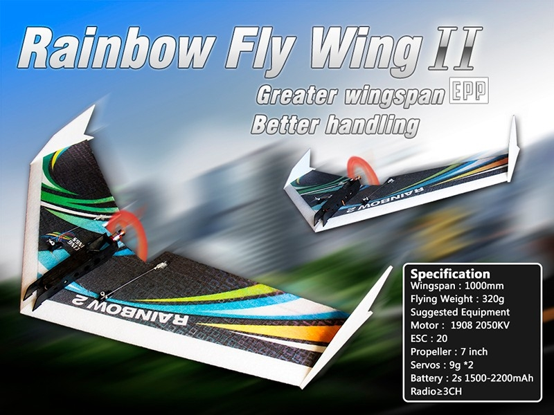 DW HOBBY Rainbow Ⅱ Flying Wing 1000mm Wingspan EPP FPV RC Airplane KIT