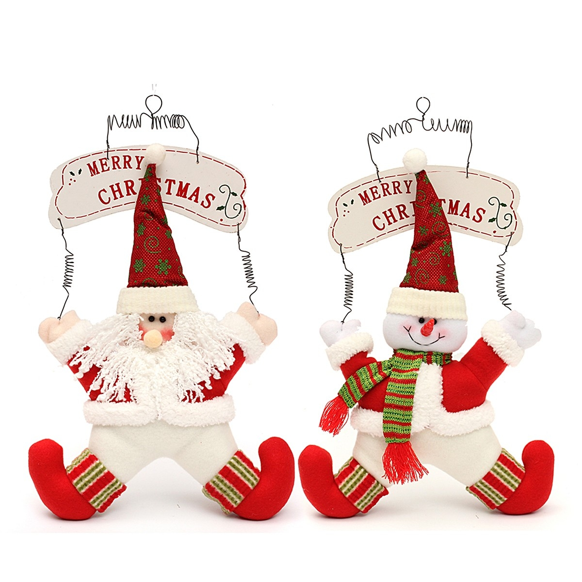 Christmas Decoration Welcome Snowman Santa Claus Door Hanging Party Ornaments