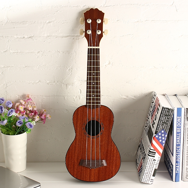 21 Inch Sapele Top ABS Back Ukulele for Beginner Basic Player