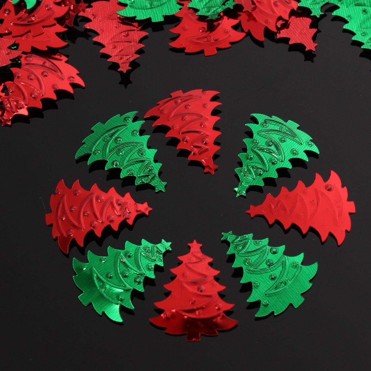 200pcs Christmas Tree Confetti Red Green Mixed Decoration Plastic Table Party Supplies