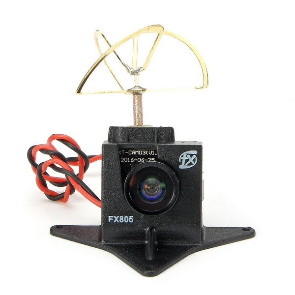 FX805 Super Light Mini AIO 5.8G 40CH 25mW Raceband VTX 600TVL COMS FOV140 Degree FPV Camera