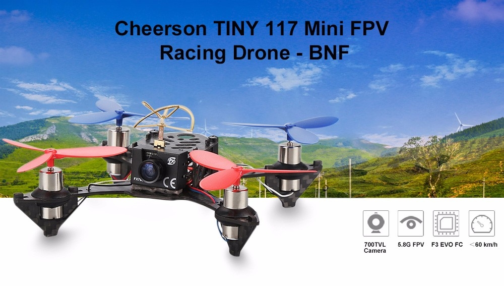 Cheerson TINY 117 Mini FPV Racing Quadcopter 5.8G 700 TVL Camera Based On F3_EVO Flight Controller