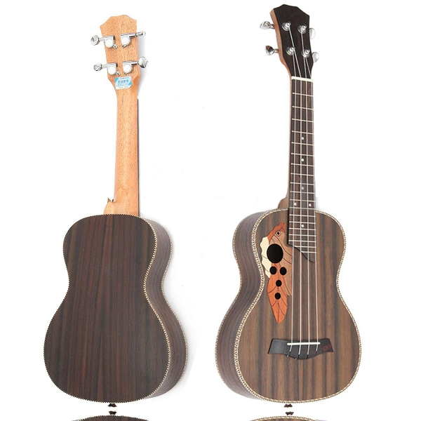 23 Inch Four Strings 19-Frets Spruce Ukulele With Grape Shape Holes