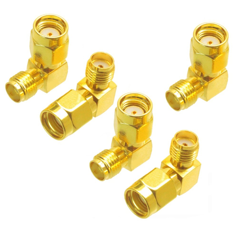 5PCS SMA Female to RP-SMA Male Right Angle Adapter Connector For RC Drone