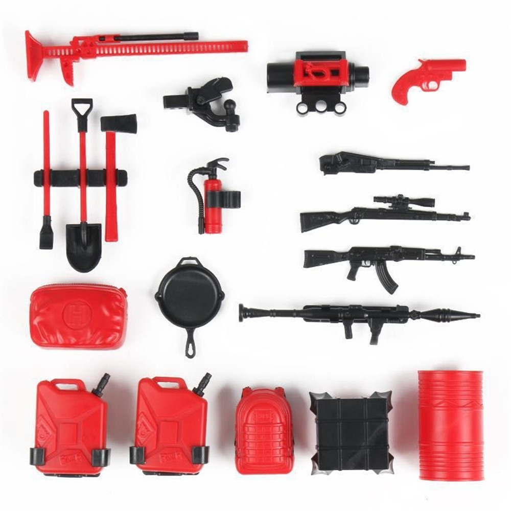 20PCS RC Decoration Tools for WPL B16 B36 C34 C24 JJRC Q65 4WD 6WD Car Spare Parts