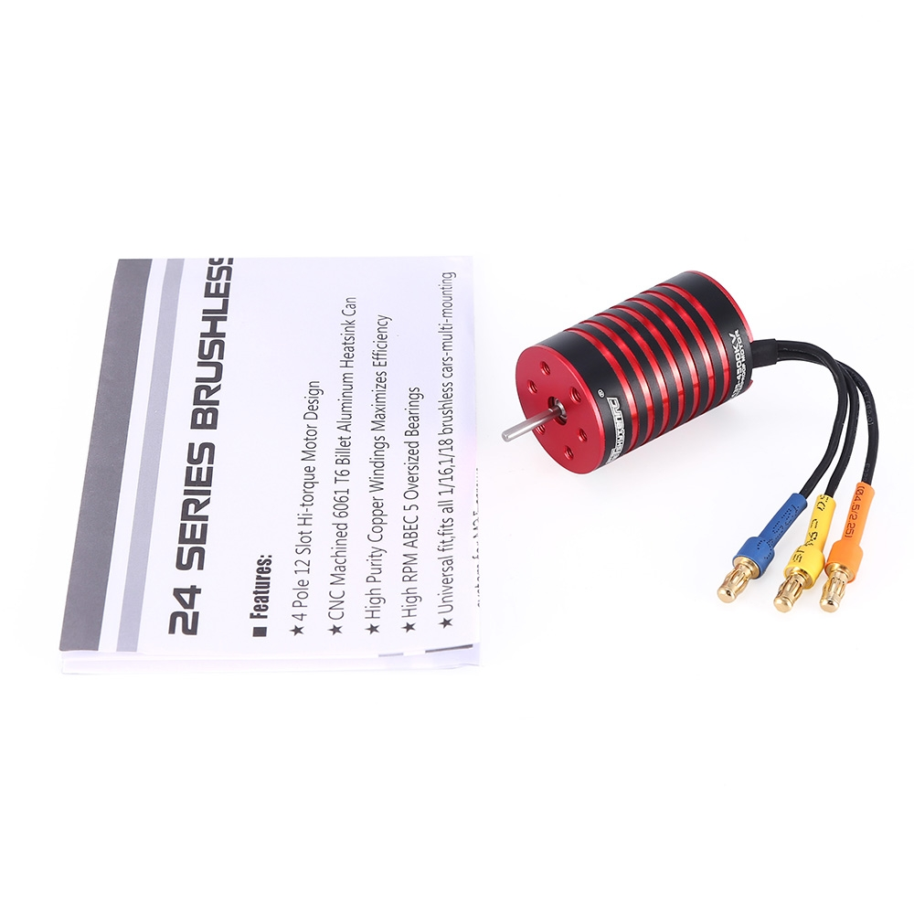 GTSKYTENRC 2435 Brushless Waterproof Motor 4500/4800KV 2S for 1/16 1/18 RC Car Parts