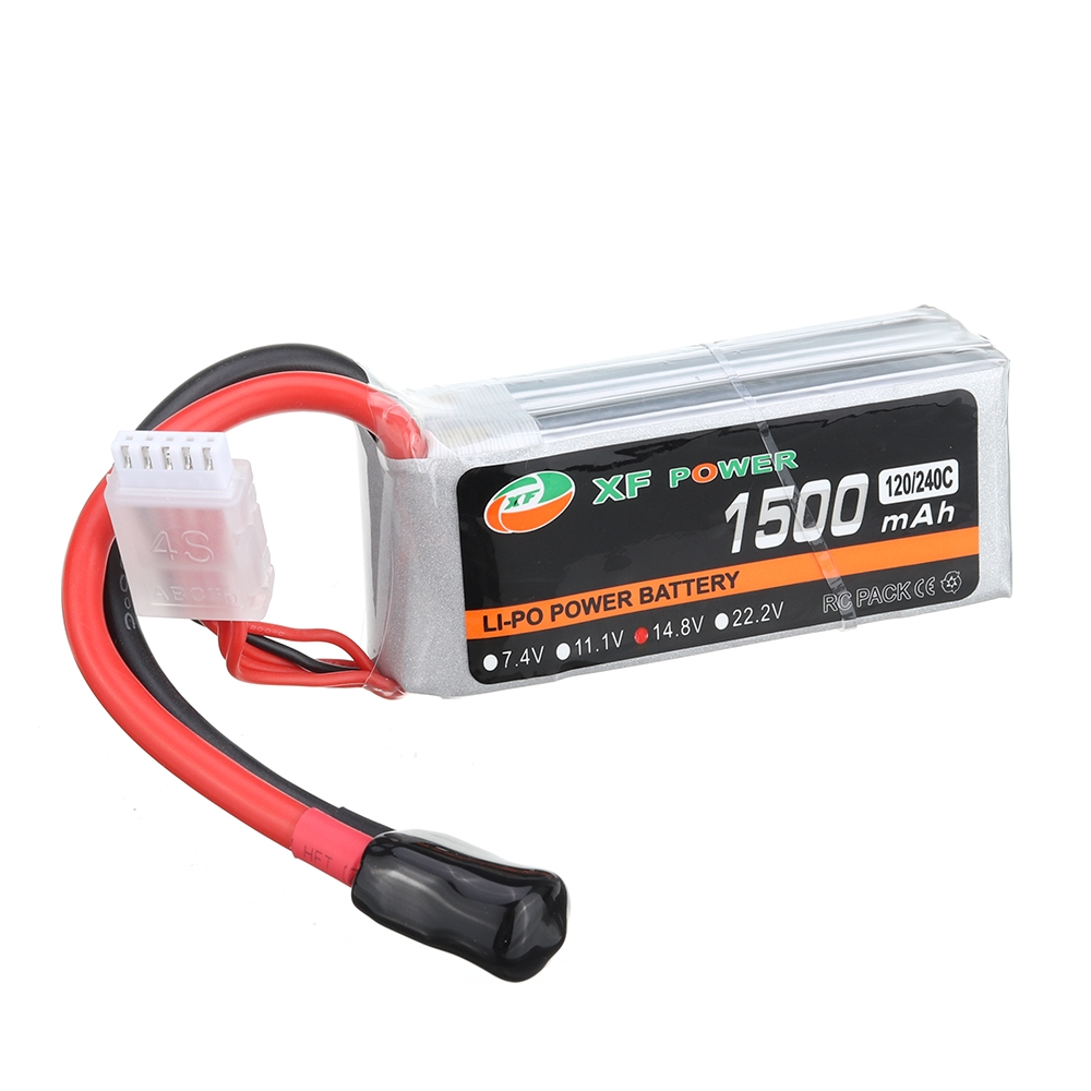 XF POWER 14.8V 1500mAh 120C/240C 4S Lipo Battery XT60 Plug for Eachine Wizard X220S Racing Drone