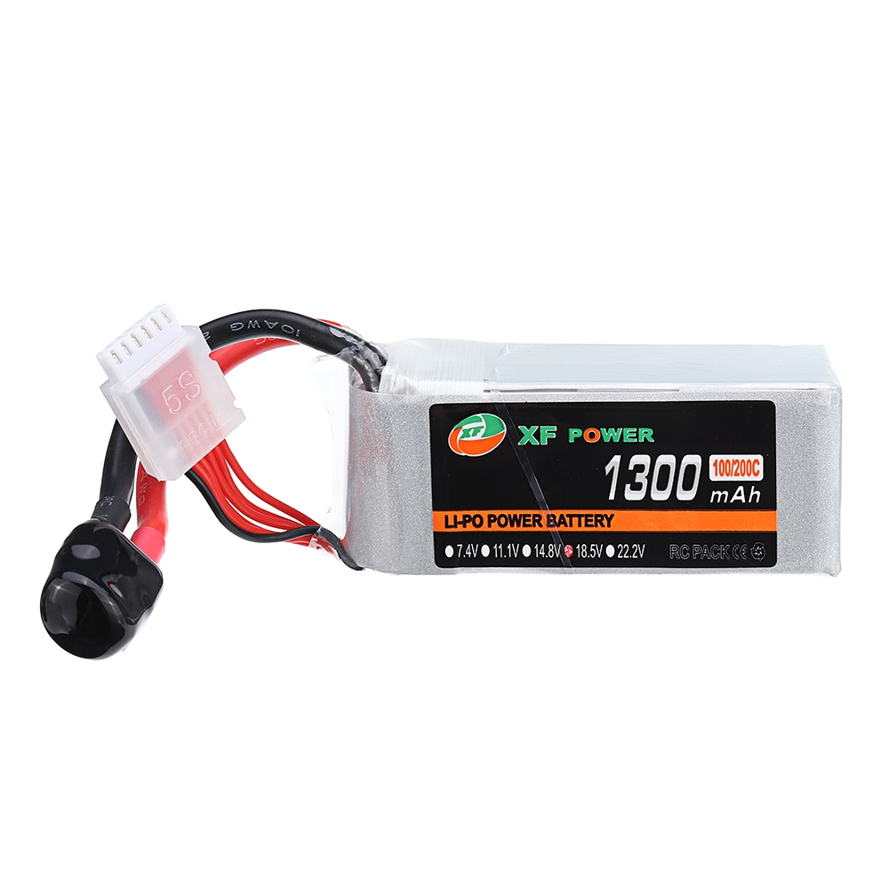 XF POWER 18.5V 1300mAh 100C/200C 5S Lipo Battery XT60 Plug for RC Racing Drone