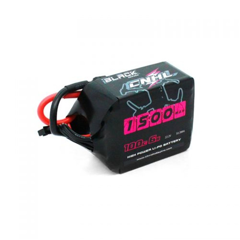 CNHL Black Series 1500Mah 6S 22.2V 100C Lipo Battery Pack Lipo With XT60 Plug
