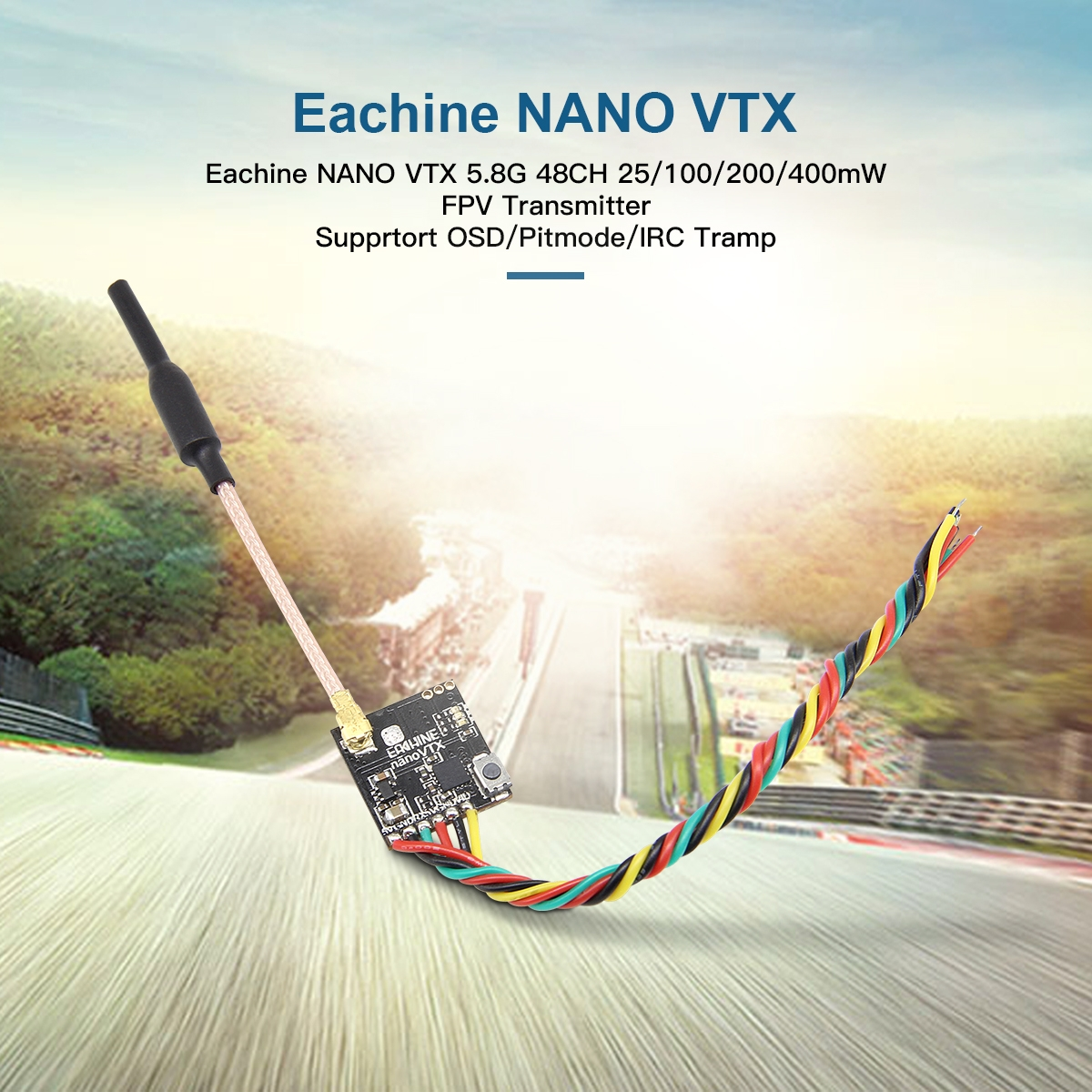 Eachine NANO VTX 5.8GHz 48CH FPV Transmitter With Runcam Racer Nano CMOS 700TVL 2.1mm FPV Camera Combo for FPV Racer Drone