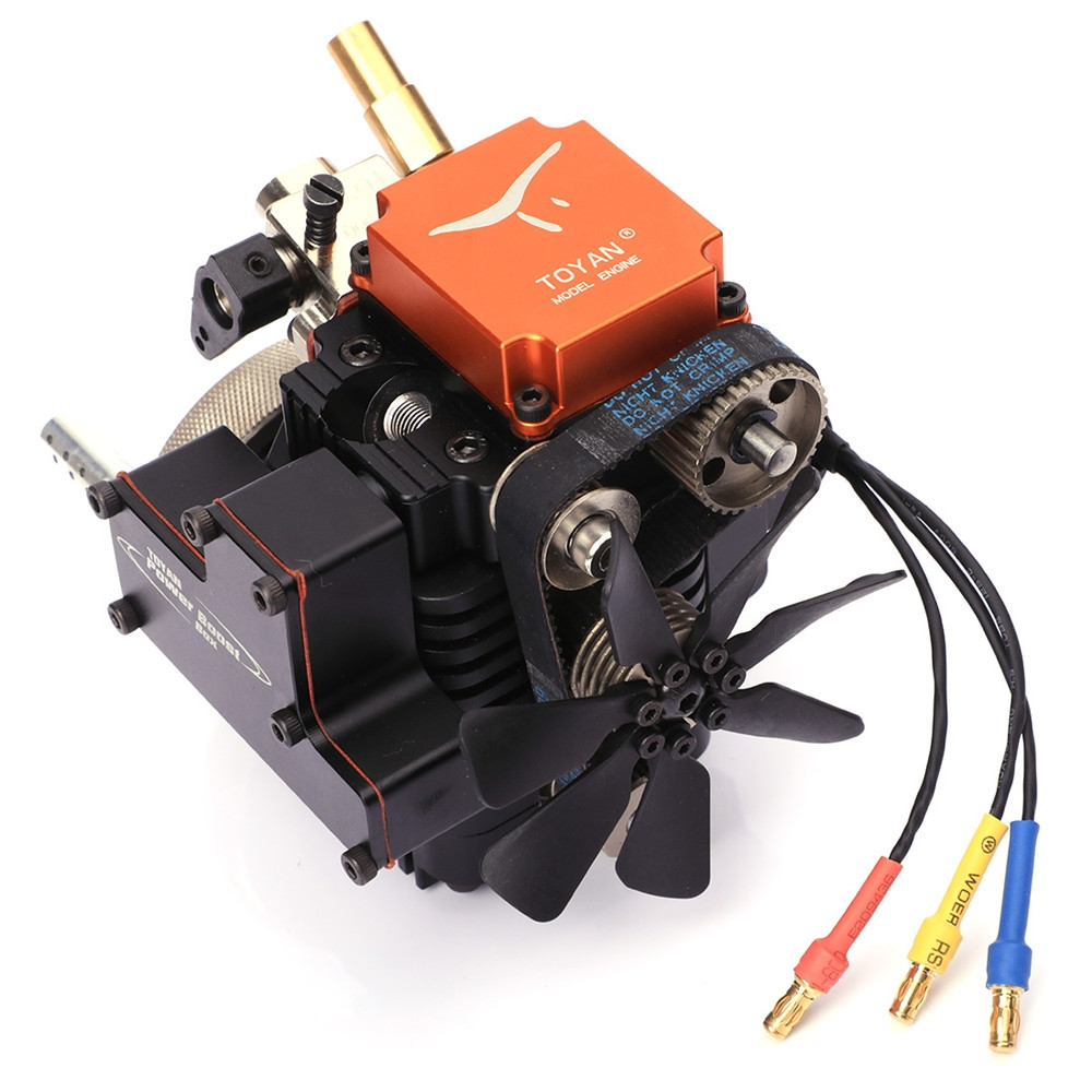 4 Stroke RC Engine Water Cooled Gasoline Model Engine Kit Starting Motor For RC Car Boat Airplane Toyan FS-S100G(w)