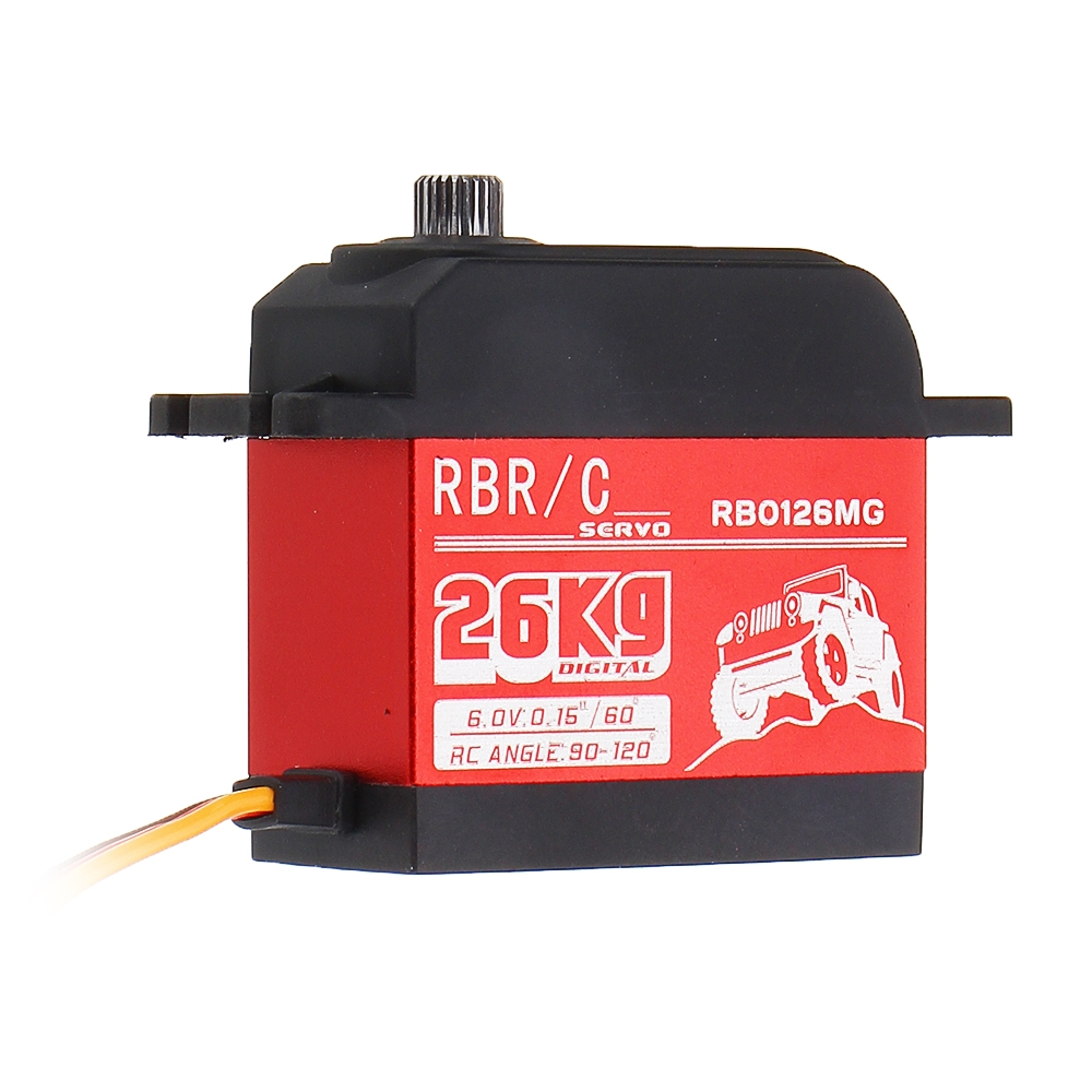 RB0126MG 26kg Metal Gear Waterproof Servo For 1/8/10 Crawler Buggy Off Road On Road RC Car Vehicle Robot Models