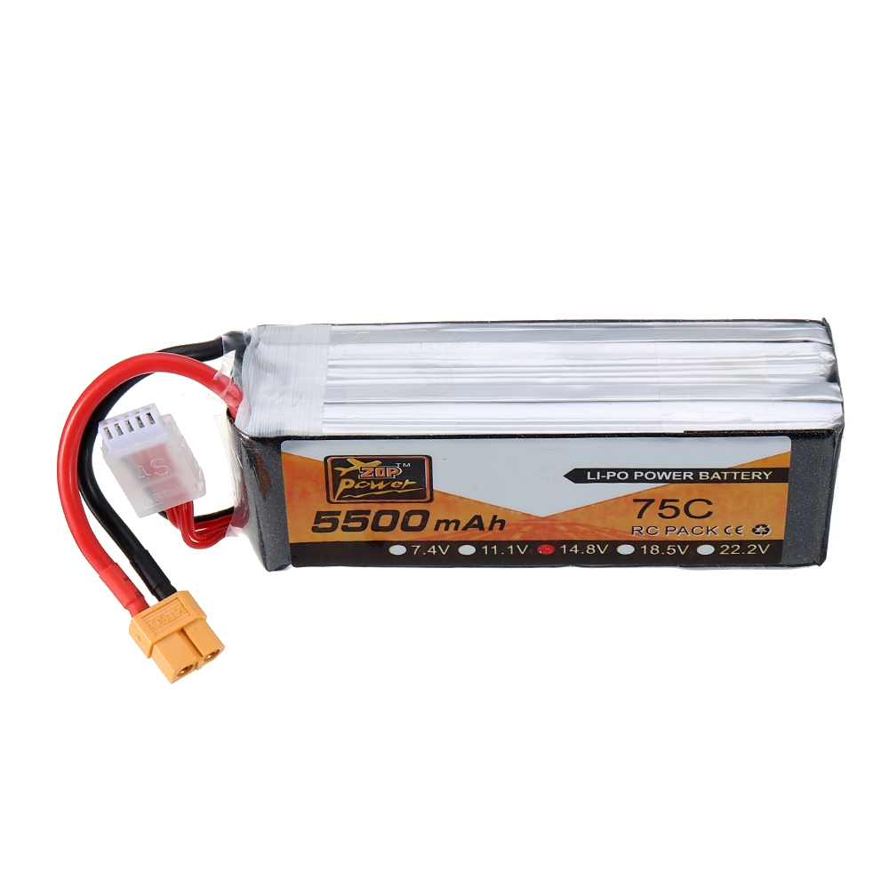 ZOP Power 14.8V 5500mAh 75C 4S Lipo Battery for RC Racing Drone RC Quadcopter