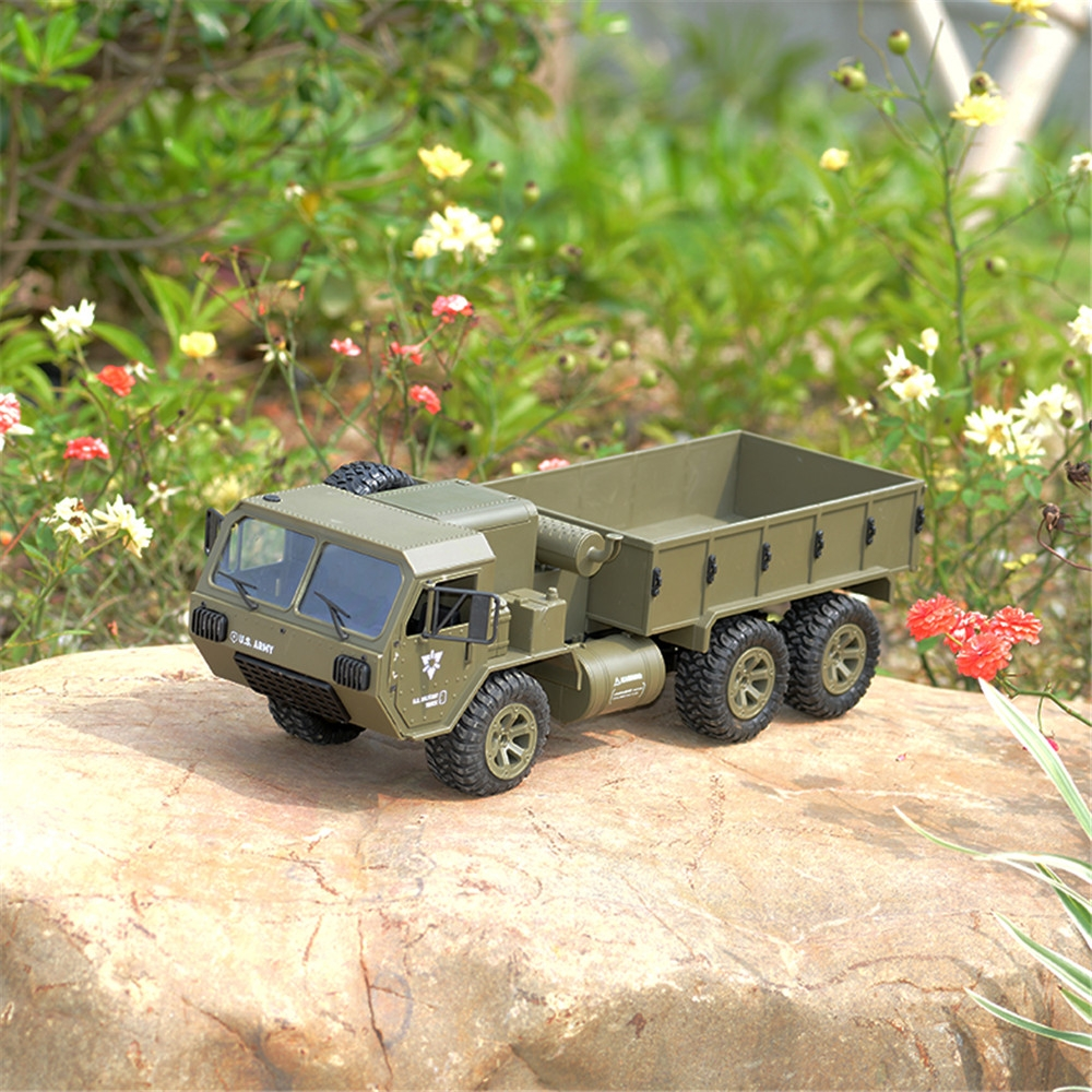 12% OFF for Fayee FY004A 1/16 2.4G 6WD Rc Car Proportional Control US Army Military Truck RTR Model Toys