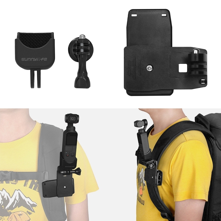 Sunnylife Bag Clip & 1/4 180 Degree Multiple Adapter Mount Accessories For GoPrO DJI OSMO Gimbal