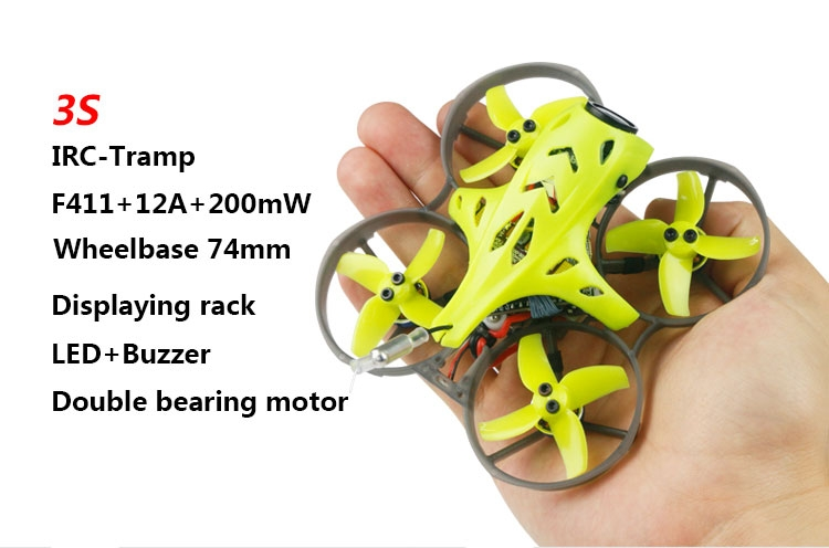 LDARC ET75 HD 74mm F4 OSD 3S FPV Racing Drone PNP BNF w/ Caddx Turtle V2 1080P Camera