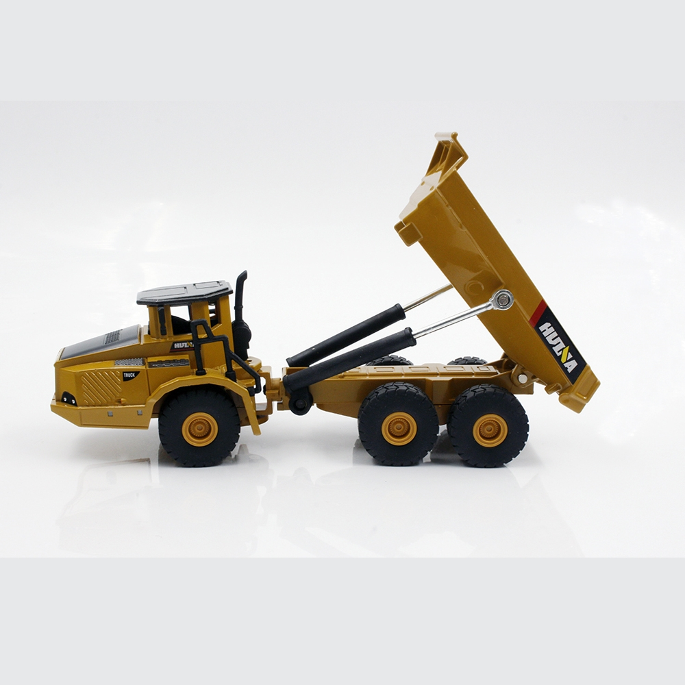 HUINA 1712 1:50 Alloy Articulated Dump Truck Model Diecast Model Metal Vehicles