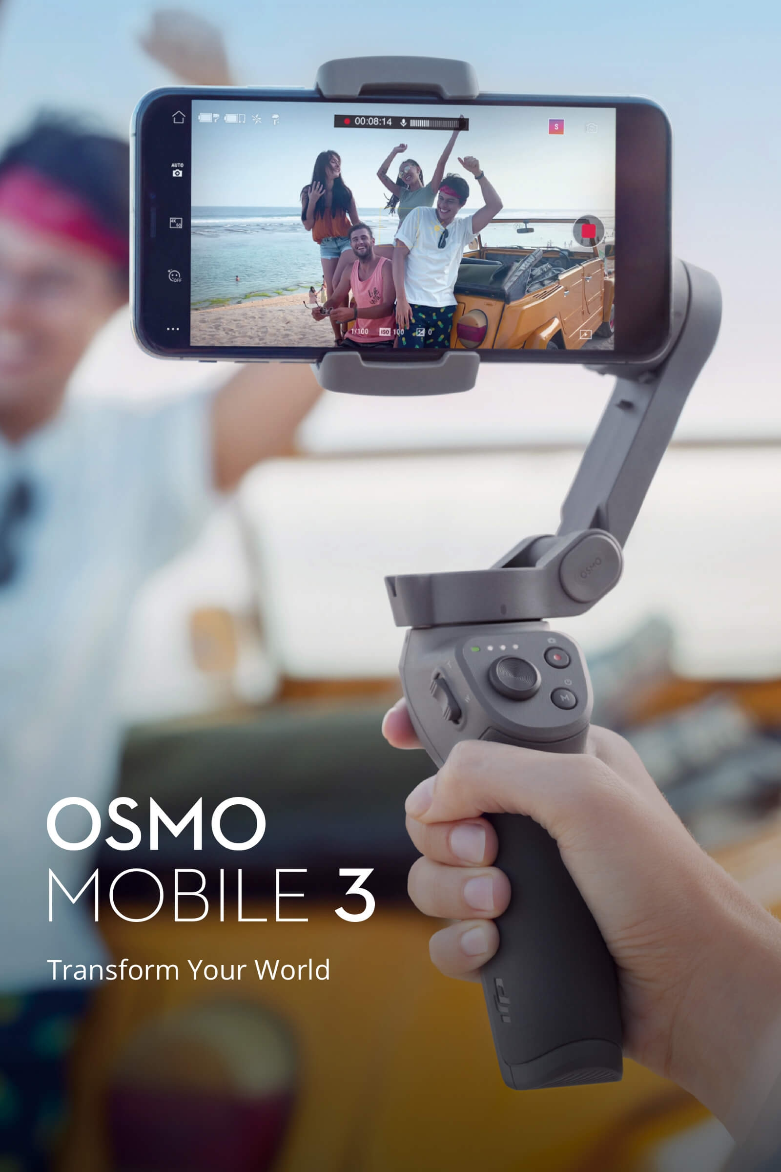 $129.99 for DJI Osmo Mobile 3 Foldable Active Track 3.0 Handheld Gimbal Portable Stabilizer Gesture Control Vlog Story Mode for Smartphones Huawei