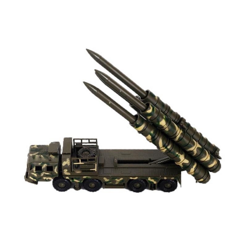 1:72 Military 4D S300 Assembled Radar Missile Car Diecast Model Toy