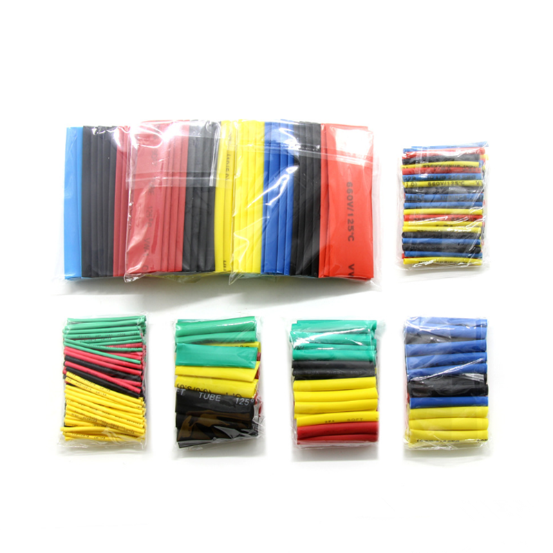 328PCS Heat Shrink Tube Insulating Sleeve Flame-Retardant Wiring Data Line Color Thermoelectric Shrink Tube