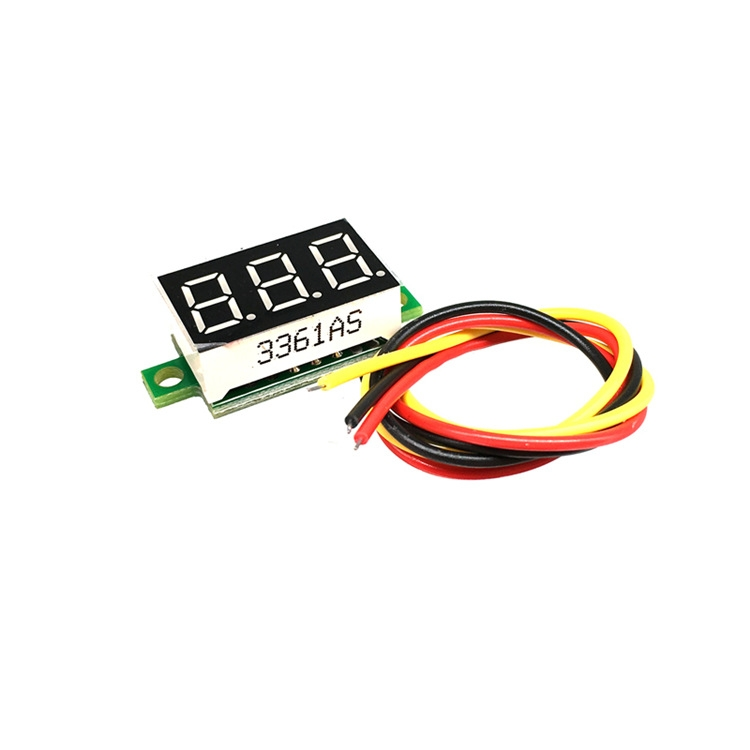 2 PCS 805 Micro 0.36 Inch Digital Battery Voltmeter DC 0V-100V Three Wires 3 Digit Battery Voltage Panel Meter LED Display for RC Airplane Car Boat Motorcycle