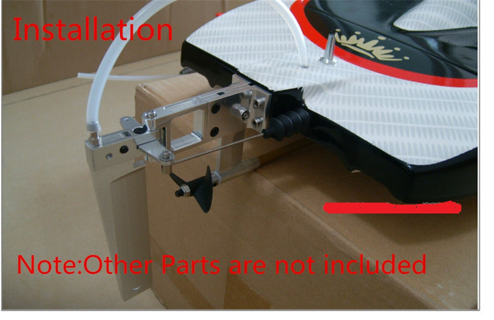 Aluminium Alloy 110mm Water Absorbing Steering Rudder w/ Suction for CAT RC Model Boat Parts