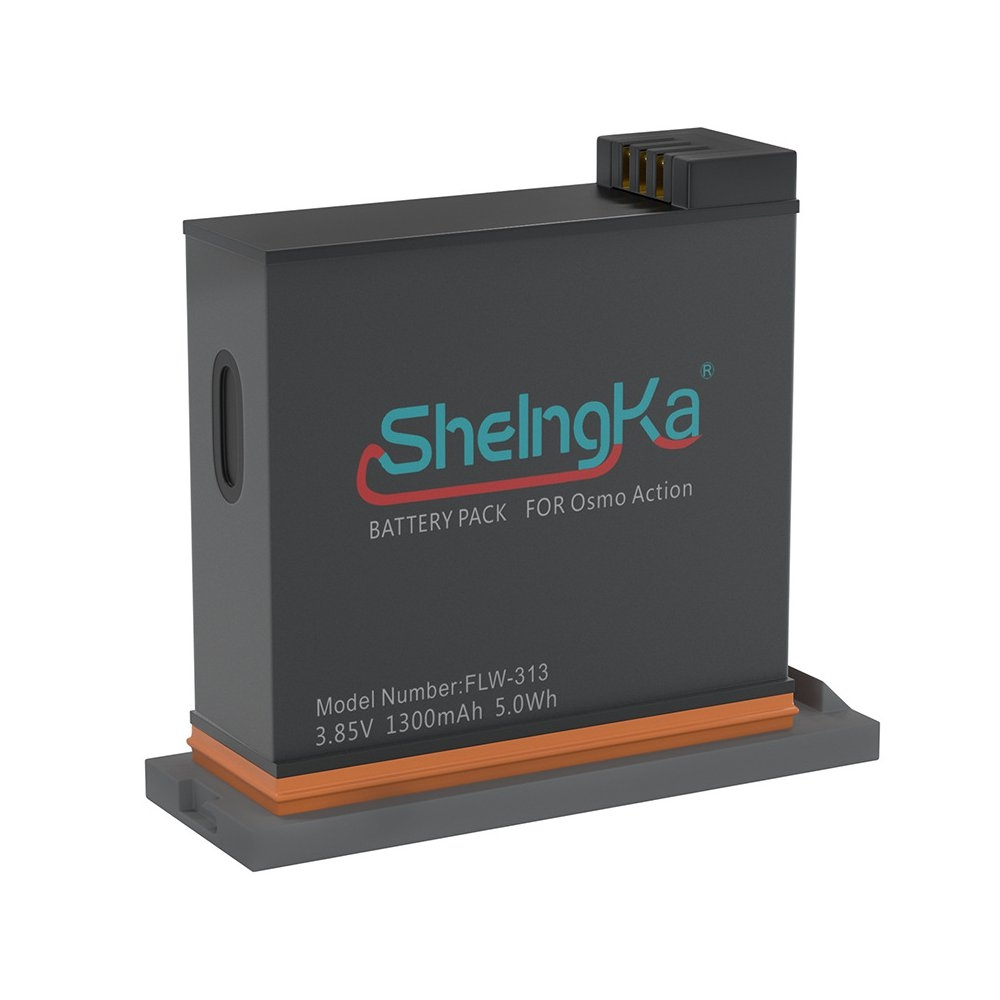 ShelngKa FLW-313 3.85V 1300mAh 5.0Wh LiPo Battery For DJI OSMO Action FPV Camera