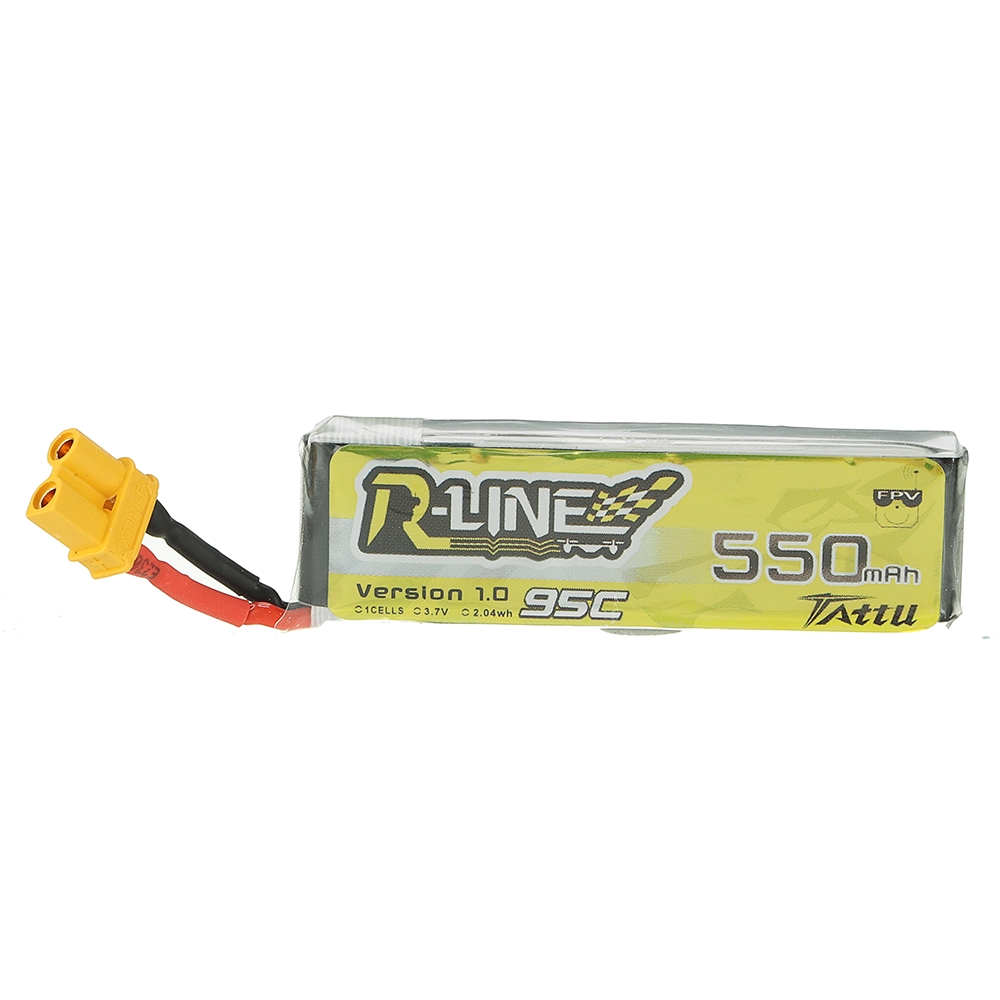 TATTU R-LINE V1.0 3.7V 550mAh 95C 1S Lipo Battery XT30U-F Plug for RC Dronel