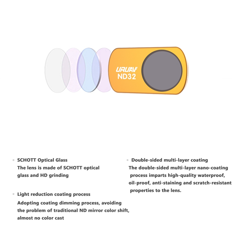 URUAV UV CPL ND STAR NDPL Anti-Light Camera Lens Filter 1PC for DJI Mavic Mini RC Drone