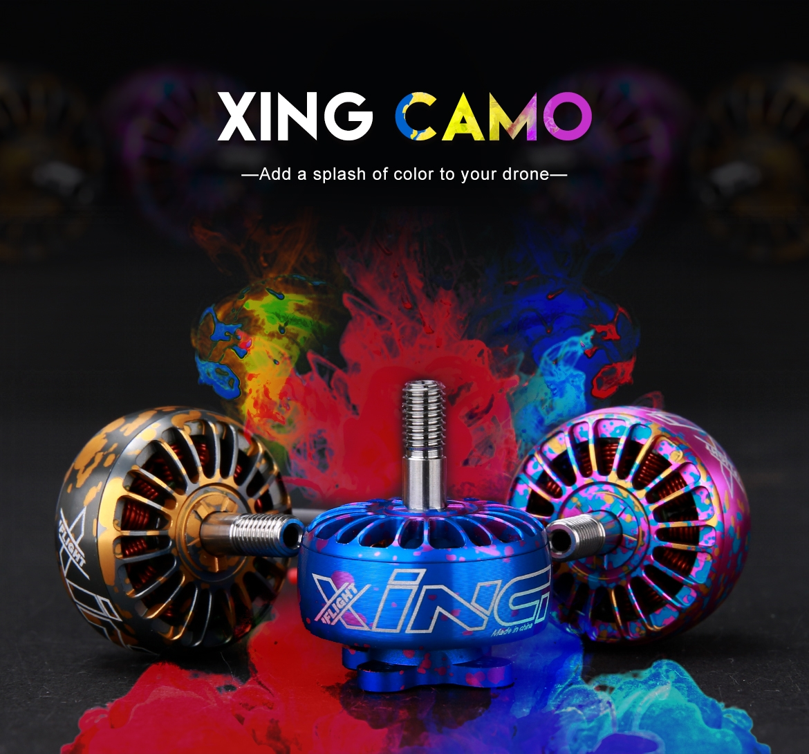 IFlight XING Camo Pink X2208 2208 1700KV 1800KV 2150KV 2450KV Brushless Motor 2-6S For RC Drone FPV Racing Multi Rotor