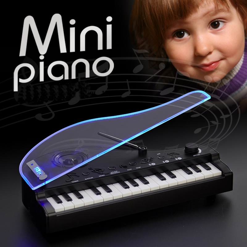 Mofun 31 Key Bluetooth V4.2 Dual Mode Electronic Keyboard Toy Piano with Induction Night Light Function for Kids