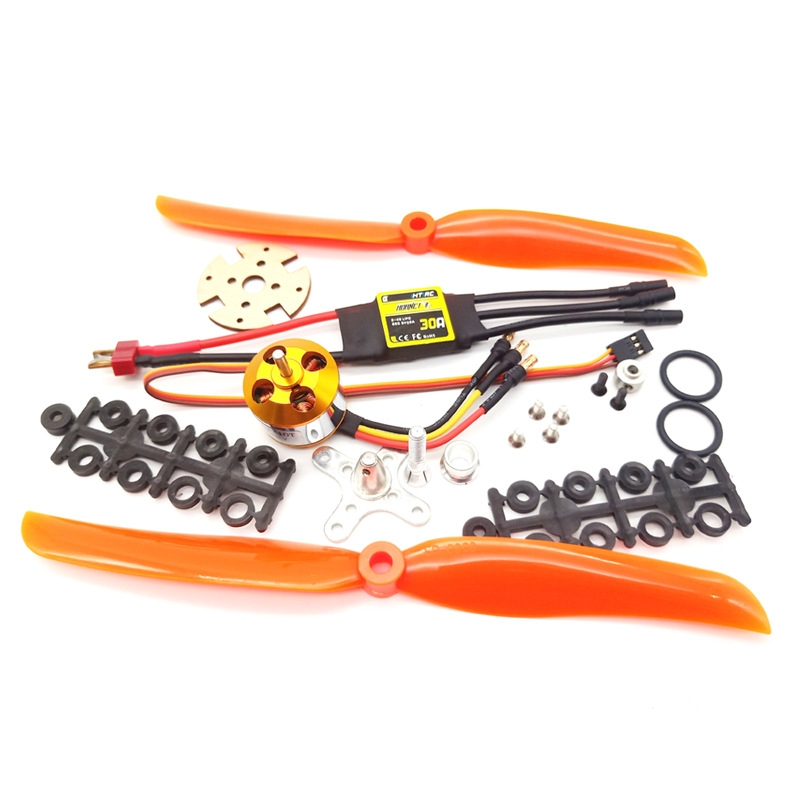 XXD A2212 2212 930KV KV930/1000KV KV1000 Brushless Motor+30A ESC+1060 Prop Blade Propeller RC Power System Combo for RC Drone Airplane Support 2s-4s - Photo: 1
