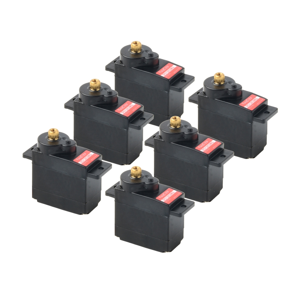 6PCS Racerstar DS1202MG 12g 180° Metal Gear Digital Micro Servo For RC Helicopter Airplane Robot