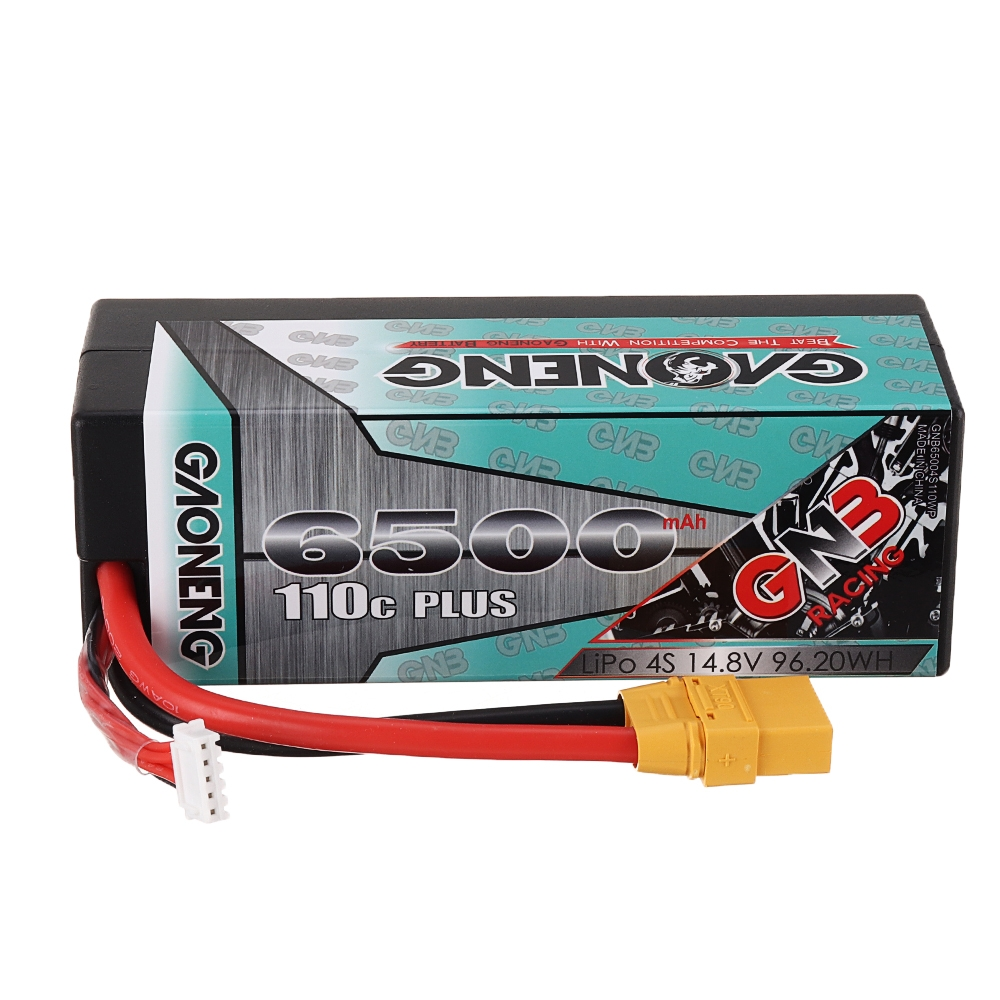 Gaoneng GNB 14.8V 6500mAh 110C 4S Lipo Battery XT90 Plug for 1:8 RC Car RC Airplane