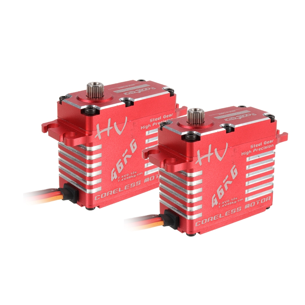 2PCS Racerstar CLS7346HV 180° 46KG Coreless Matel Gear Digital Servo For RC Airplane Car Robot