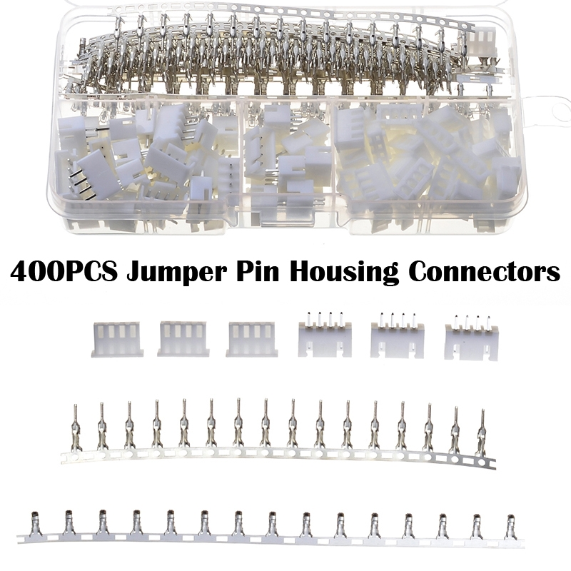 400PCS 2.54mm Jumper Pin Housing JST Connector