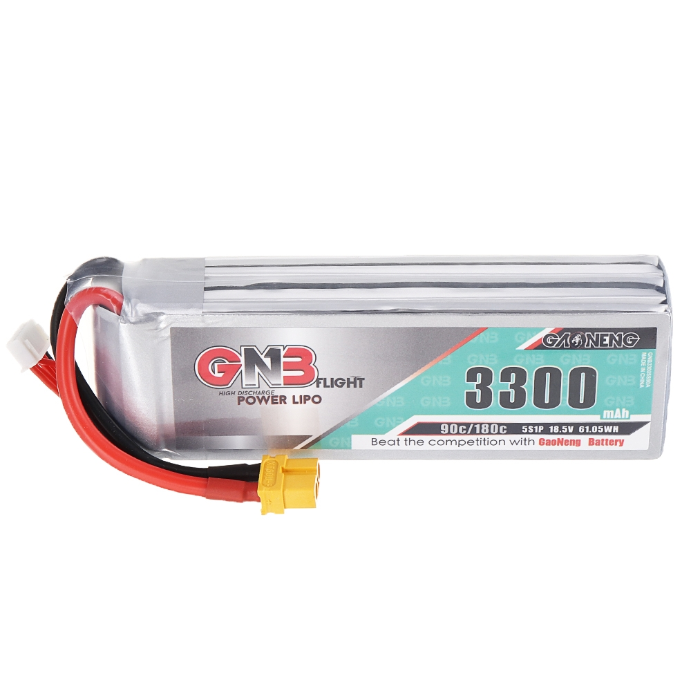 Gaoneneg GNB 18.5V 3300mAh 90C 5S Lipo Battery XT60 Plug for for Fixed Wing Vehicle RC Model