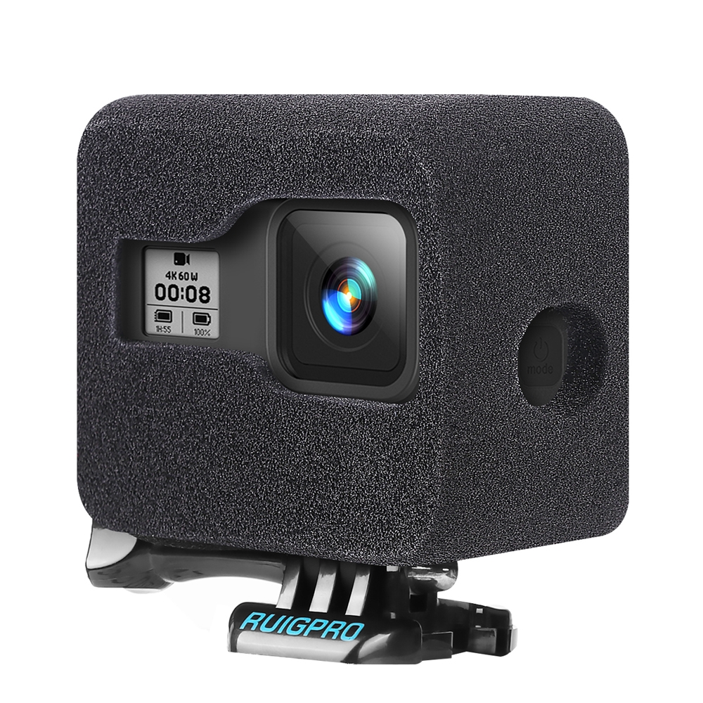 RUIGPRO Camera Windshield Noise Reduction Sponge Foam Cover For GoPro Hero 8 Black FPV Camera