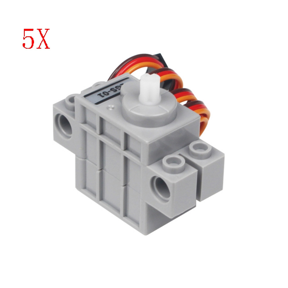 5PCS LOBOT LGS-01 Micro Anti-block Servo 270° Rotation Compatible With LEGO Blocks