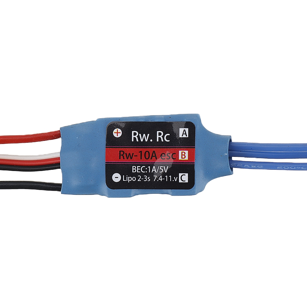 RW.RC 10A Brushless ESC 5V1A BEC 2S 3S for RC Models Fixed Wing Quadcopter Miltirotor