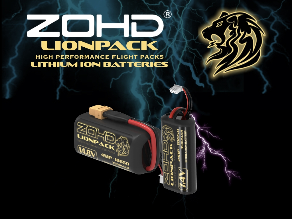 ZOHD LIONPACK 7.4V 2S1P 3500mAh 18650 Li-ion Lipo Battery for FPV Goggles Sub250g Plane RC Airplane Long Range Car Boat Tank