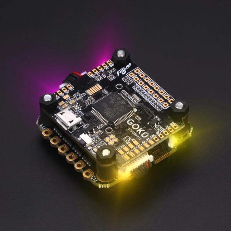 FLYWOO GOKU Stack F722 Flight Controller & 50A Blheli_32 2-6S 4 In 1 Brushless ESC 30.5x30.5mm